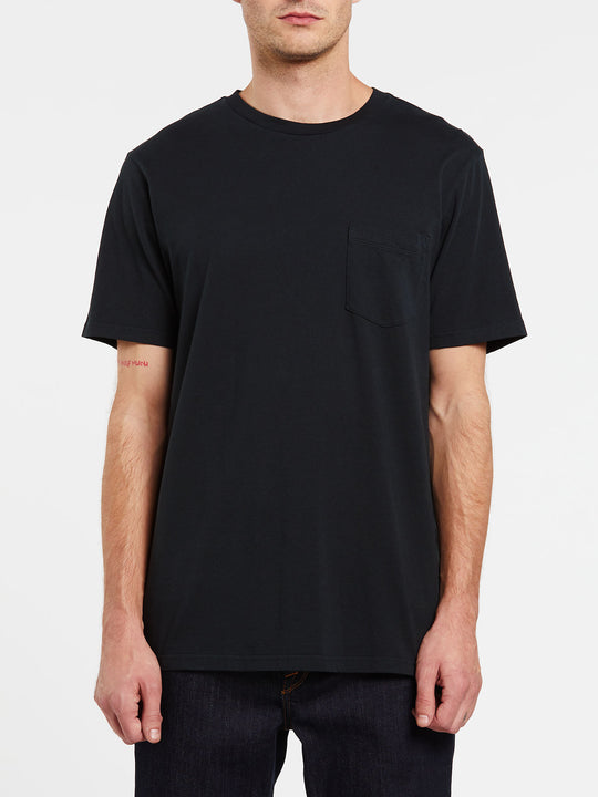 Solid Short Sleeve Pocket Tee - Black (A5031808_BLK) [F]