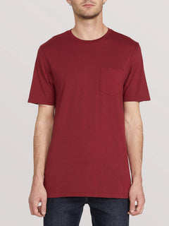 SOLID POCKET S/S TEE (A5031808_CAB) [F]