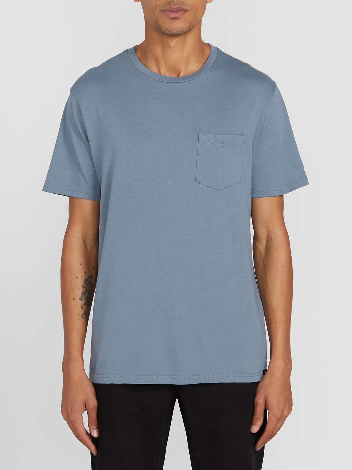 Solid Pocket Short Sleeve Tee (A5031808_STB) [F]