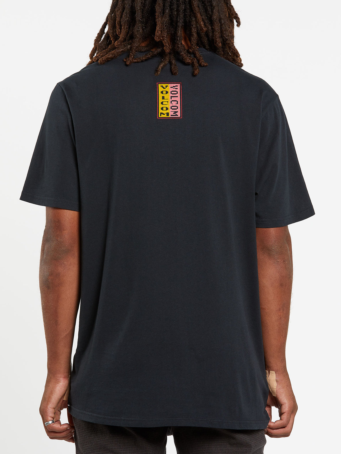 Embedded Face Short Sleeve Tee - Black (A5032003_BLK) [B]