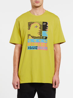 Embedded Face Short Sleeve Tee - Olive (A5032003_OLV) [F]