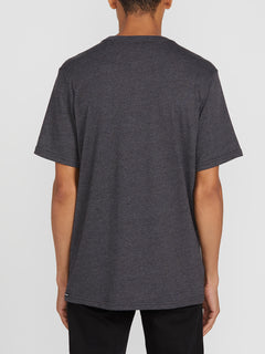 Heather Short Sleeve Pocket Tee - Black Combo (A5711807_BLC) [B]