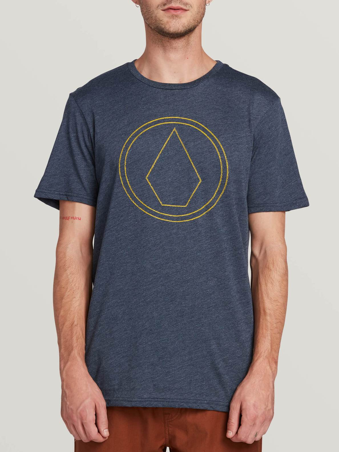 Pin Stone Short Sleeve Tee - Navy