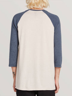 Solid Heather 3/4 Sleeve Raglan Tee - Navy