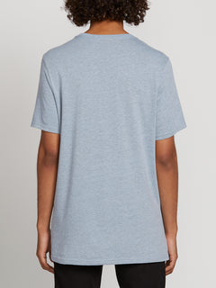 Land Lines Short Sleeve Tee In Arctic Blue, Back View