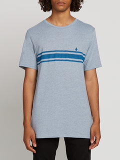 Land Lines Short Sleeve Tee In Arctic Blue, Front View