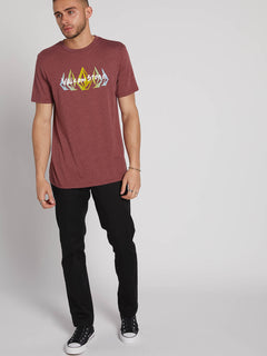 Hazy Short Sleeve Tee - Crimson (A5731905_CMS) [1]