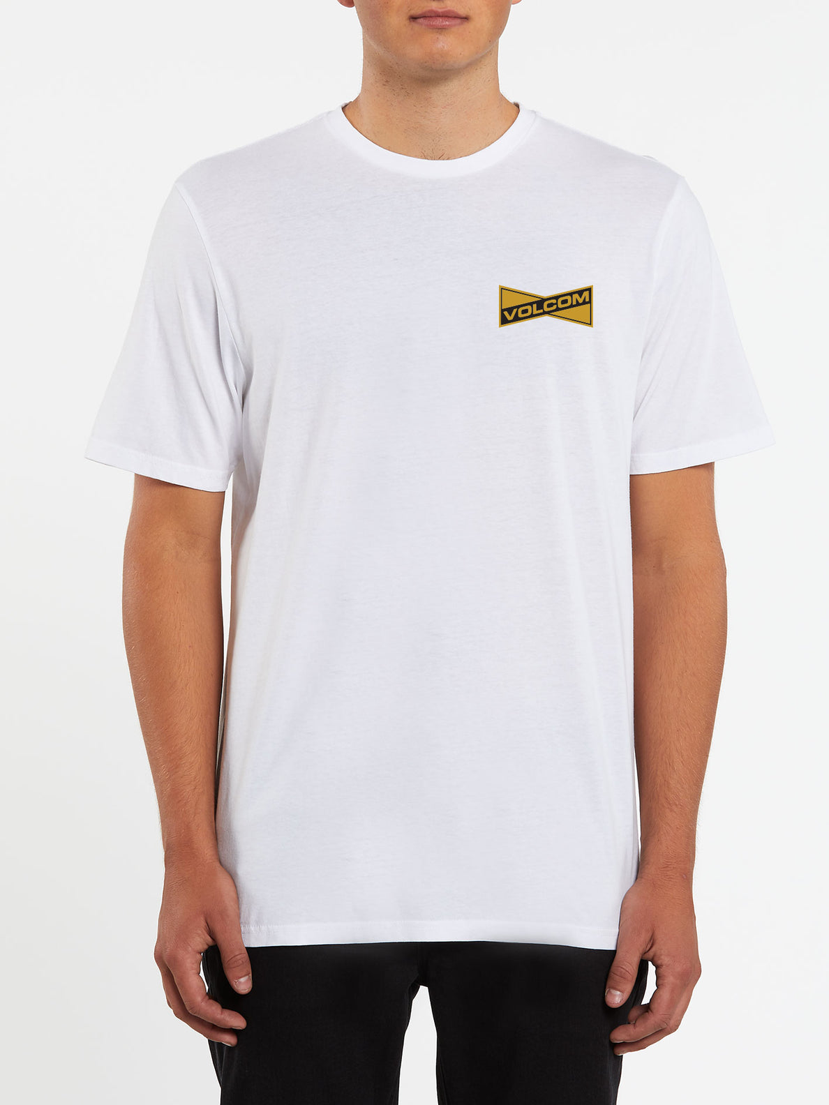 Vee-Bow Short Sleeve Tee - White (A5732001_WHT) [F]