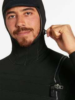 5/4/3MM HOOD CHESTZIP FULLSUIT - BLACK (A9532003) [10]