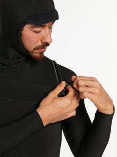 5/4/3MM HOOD CHESTZIP FULLSUIT - BLACK (A9532003) [11]