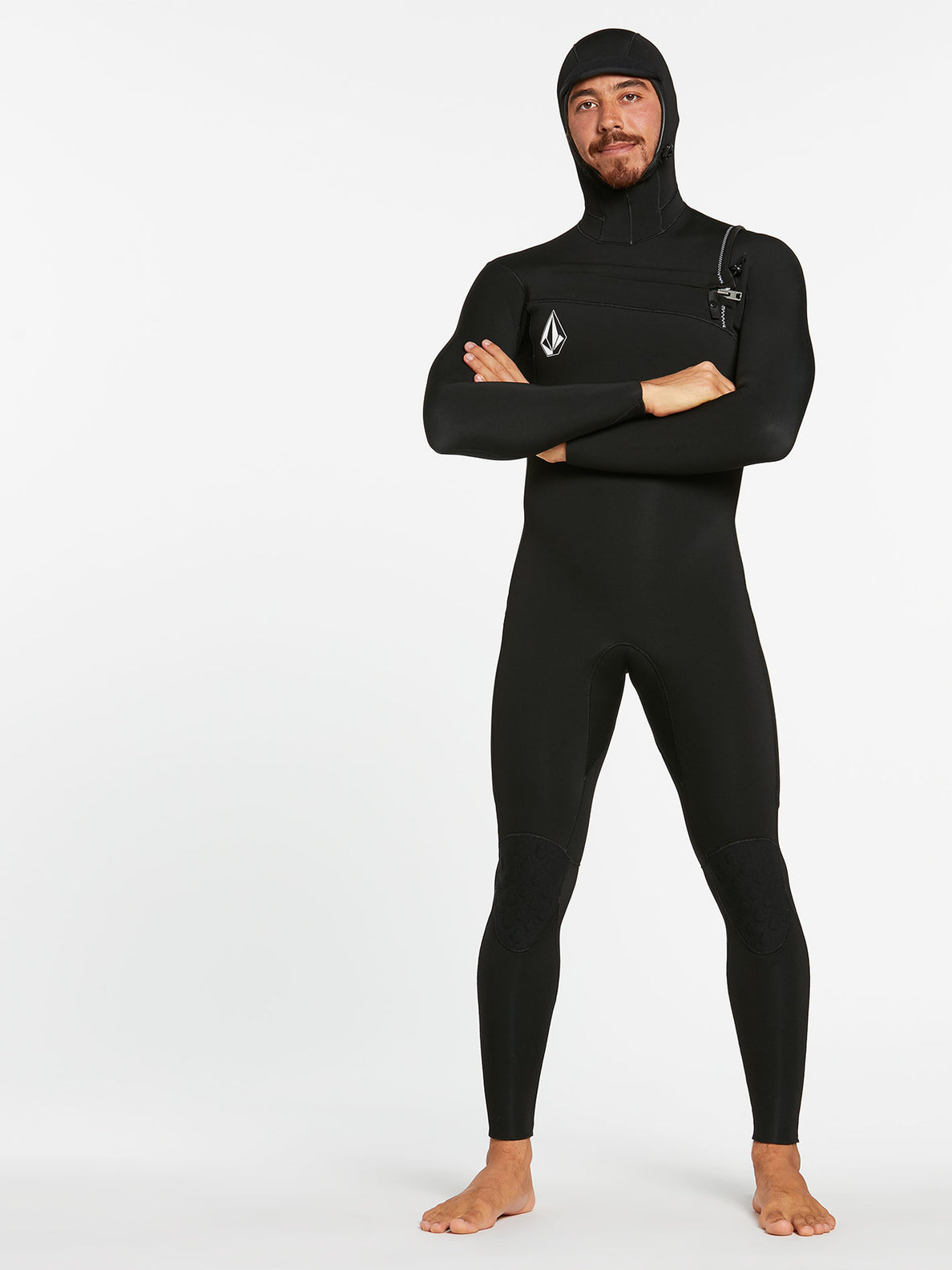 5/4/3MM HOOD CHESTZIP FULLSUIT - BLACK (A9532003) [12]
