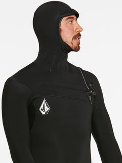 5/4/3MM HOOD CHESTZIP FULLSUIT - BLACK (A9532003) [17]