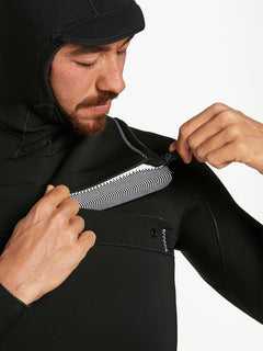 5/4/3MM HOOD CHESTZIP FULLSUIT - BLACK (A9532003) [9]