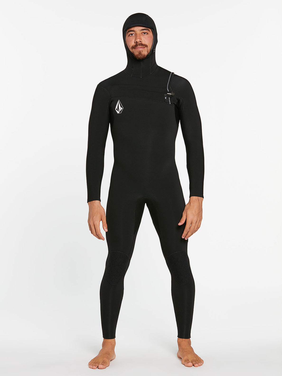 5/4/3MM HOOD CHESTZIP FULLSUIT - BLACK (A9532003) [F]