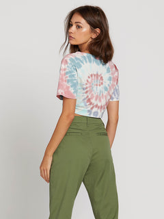 Knot It Short Sleeve Tee In Multi, Back View