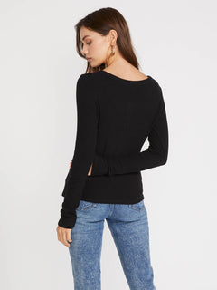 Secret Stone Long Sleeve (B0141807_BLK) [B]