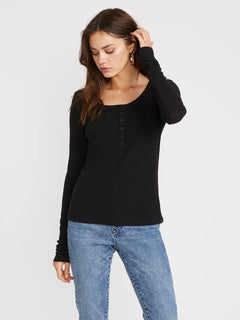 Secret Stone Long Sleeve (B0141807_BLK) [F]