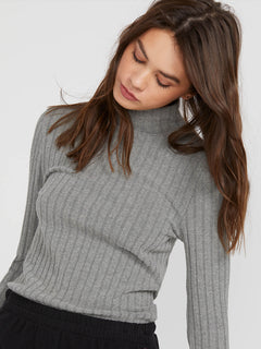 Lived In Lounge Long Sleeve - Charcoal Heather (B0341901_CHR) [1]