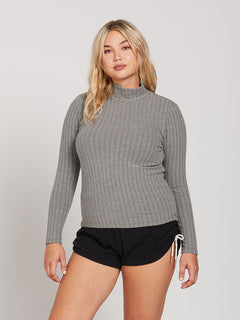 Lived In Lounge Long Sleeve - Charcoal Heather (B0341901_CHR) [21]
