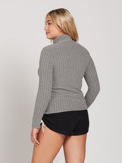 Lived In Lounge Long Sleeve - Charcoal Heather (B0341901_CHR) [22]