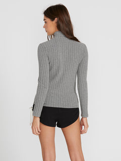 Lived In Lounge Long Sleeve - Charcoal Heather (B0341901_CHR) [B]