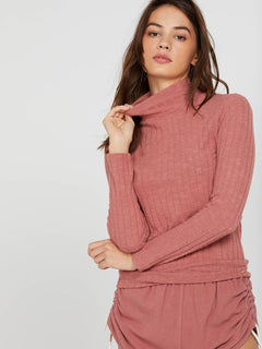 Lived In Lounge Long Sleeve - Rose Wood