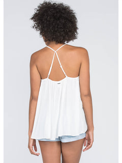 Summit Stone Cami In Vintage White, Back View