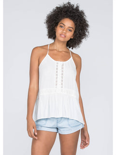 Summit Stone Cami In Vintage White, Front View