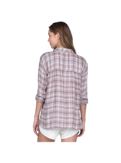 Plaidazzle Shirt In Merlot, Back View