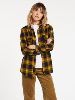Getting Rad Plaid Long Sleeve  Flannel - Golden Haze (B0531800_GDH) [1]