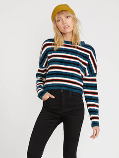 The Favorite Sweater - Stormy Blue (B0731806_STB) [F]