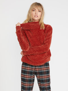 Cozy On Over Sweater - Nutmeg (B0741801_NUT) [F]
