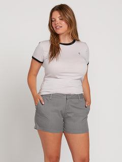 Frochickie Shorts In Heather Grey, Front Extended Size View