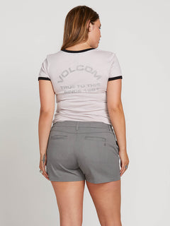 Frochickie Shorts In Heather Grey, Back Extended Size View