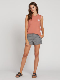 Frochickie Shorts In Heather Grey, Second Alternate View