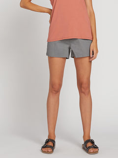 Frochickie Shorts In Heather Grey, Third Alternate View