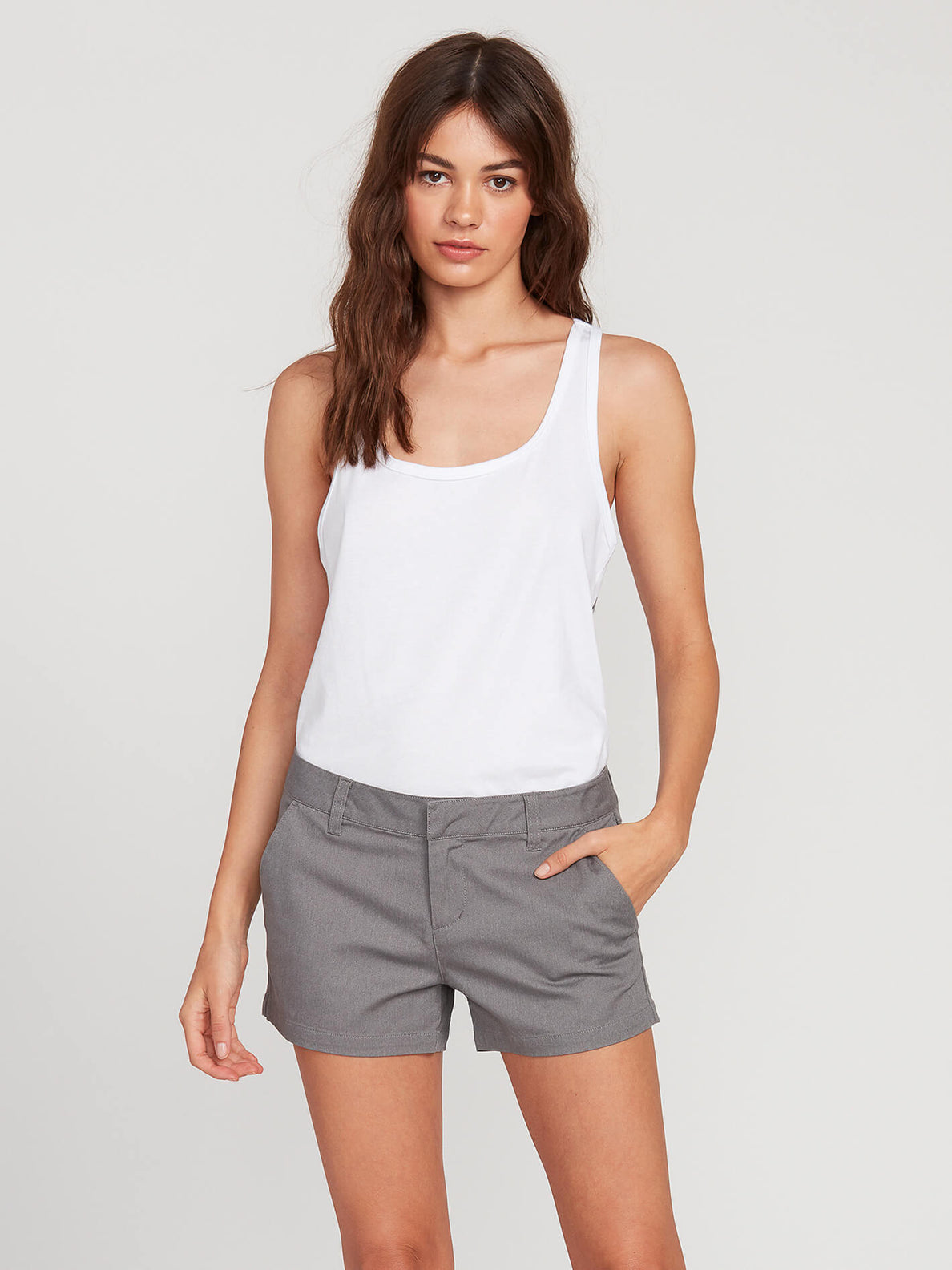 Frochickie Shorts - Heather Grey (B0911800_HGR) [F]