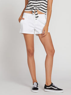 Frochickie Shorts In White, Third Alternate View