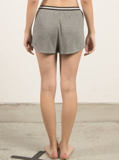 Lived In Lounge Shorts In Heather Grey, Back View