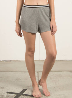 Lived In Lounge Shorts In Heather Grey, Front View