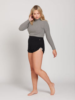 Lived In Lounge Fleece Shorts - Black (B0931803_BLK) [056]