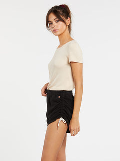 Lived In Lounge Fleece Short - Black (B0931803_BLK) [1]