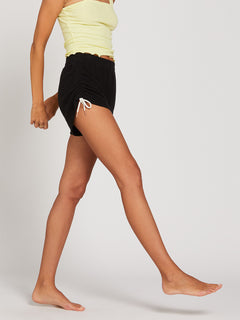 Lived In Lounge Fleece Shorts - Black (B0931803_BLK) [62]