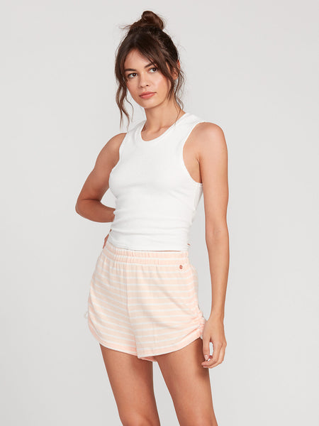 Lived In Lounge Fleece Shorts - Light Peach