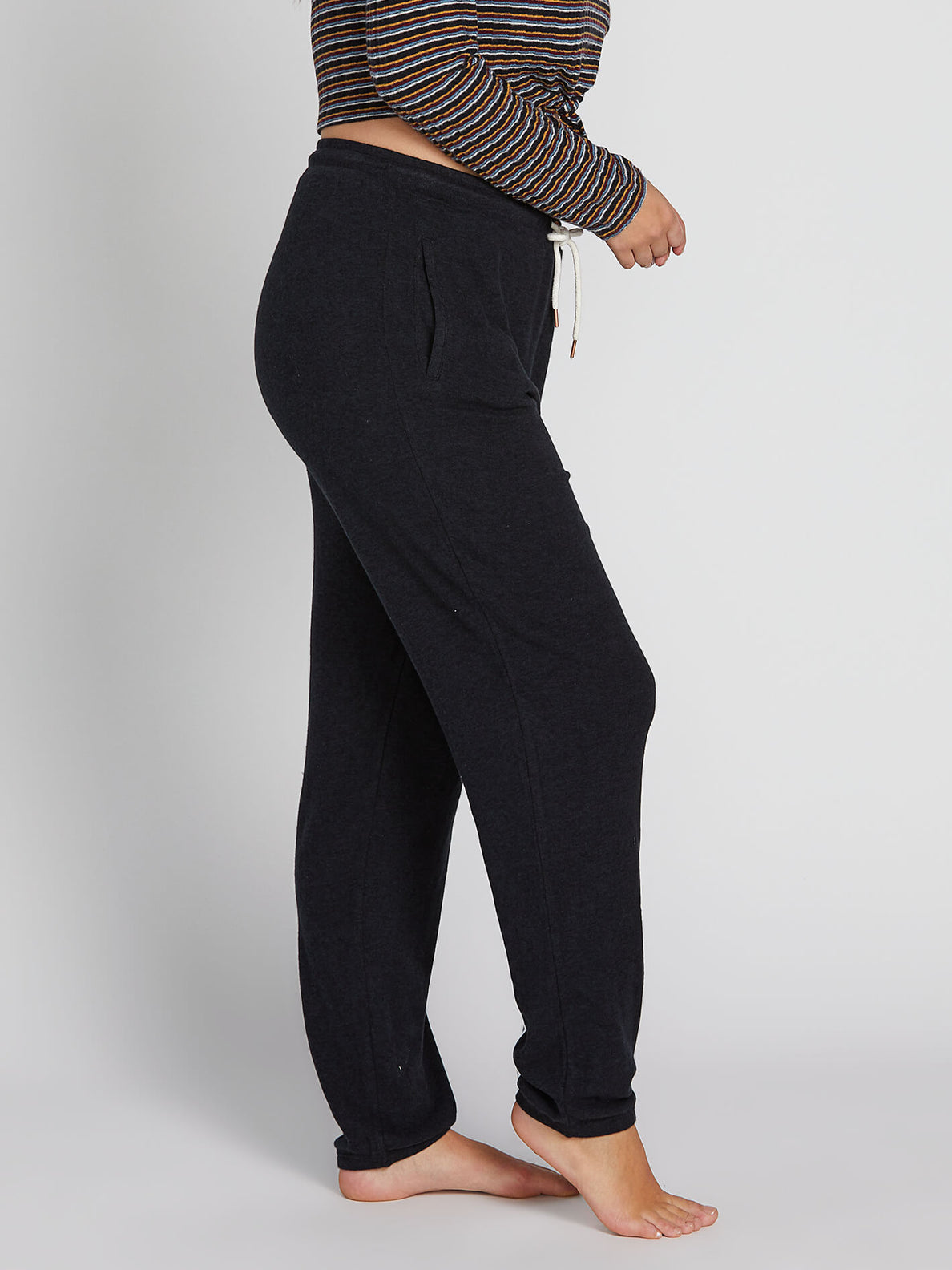 Lived In Lounge Fleece Pants - Black (B1111801P_BLK) [1]