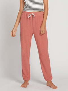 Lived In Lounge Fleece Pants In Mauve, Second Alternate View
