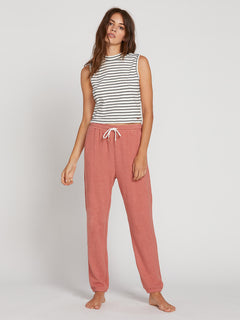 Lived In Lounge Fleece Pants In Mauve, Front View