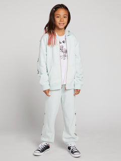 Big Girls Vol Stone Fleece Pant In Smokey Blue, Front View