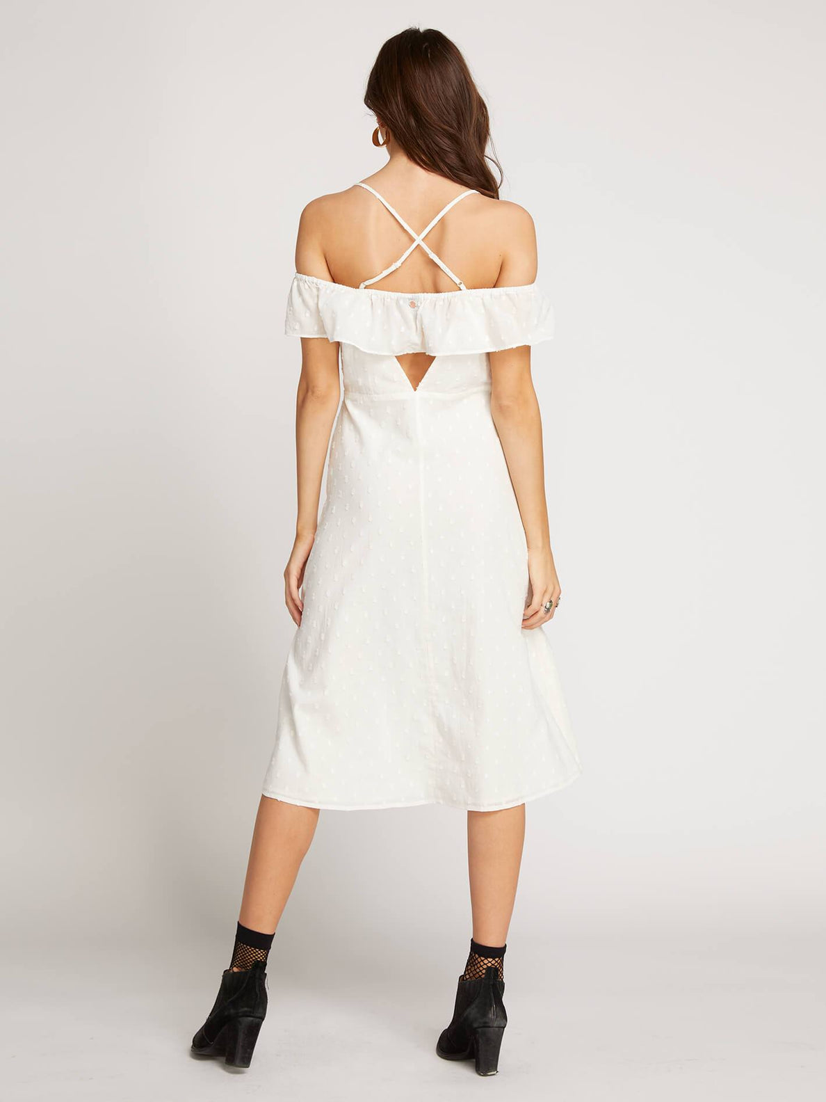 Winding Roads Dress In Star White, Back View