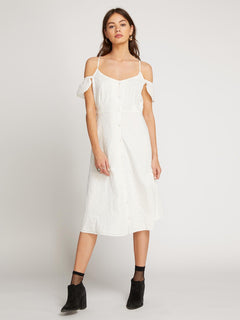 Winding Roads Dress In Star White, Front View